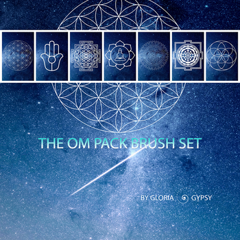 Om Collection Brush Pack by gloriagypsy