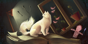 Cat in the story by Avinna