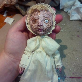 The mummy girls baby doll- with crackle effect by Woodedwoods