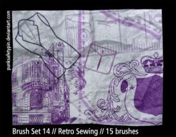Brush Set 14 - Retro Sewing by punksafetypin