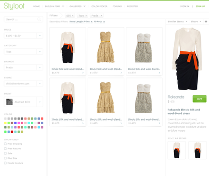 Styloot Shop - Third Iteration by eXPerienceARTS