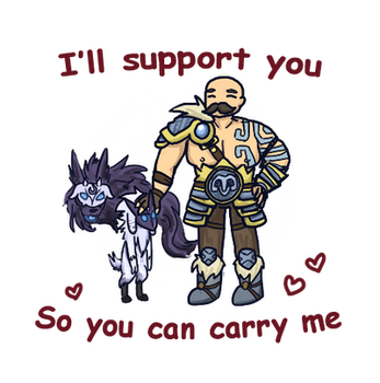 I'll support you | Kindred and Braum by RedSoraFox