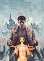 Angel and Faith cover, issue 14 by StevenJamesMorris