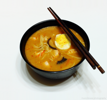 Spicy Chicken Ramen 1 by munchinees