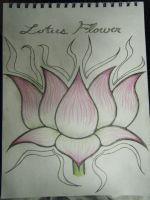 Lotus flower That I drew by Toast007