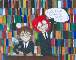 Will + Grell: Study Buddies by pitchperfect
