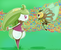 Steenee and Ribombee