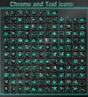 chrome and teal icons by xylomon