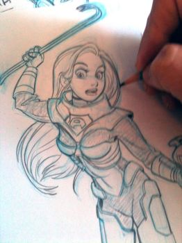 Space girl_in progress by tombancroft