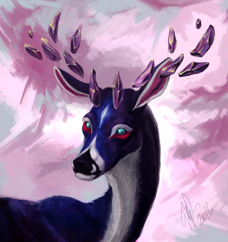 Deer commission by TinToad