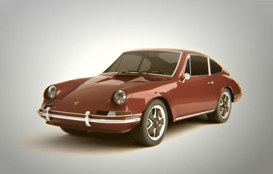 Porsche 911 T 1968 Retro Colours by automatte