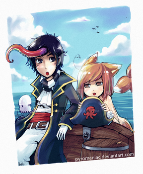 The Seafox and the Captain by Parororo
