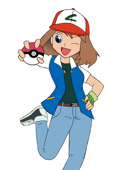 Pokemon May, Ash outfit by Snowdog-zic