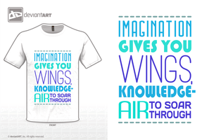 Imagination gives you wings by gingergenius