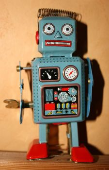 Old style toy robot by deadenddoll-stock
