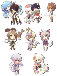 Paperdoll Chibis Batch1 by Rinslettuce