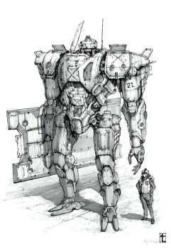 Defender Mecha by TyphonArt