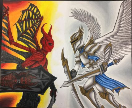 Angels vs Demons by nitrapalo