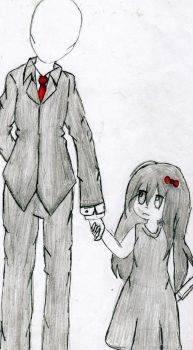 Slenderman - Fan Art - chibi by ProduccionesToriel