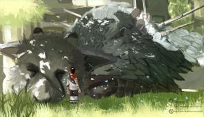 Rest (The last Guardian) by nOki19