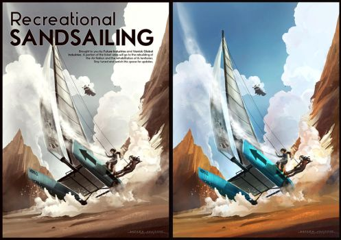 Recreational Sandsailing by Anday