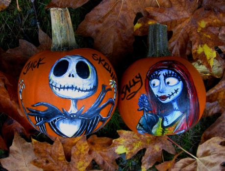 'Simply Meant to Be' pumpkins by MissCosettePontmercy
