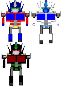 Optimus, Magnus and Scourge. by Girz-Revenge