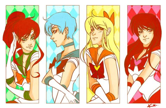 Sailor Scouts Colored by kmwoot