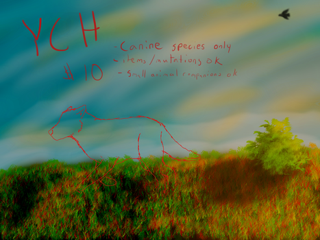 Late Afternoon Sun Grassland YCH OPEN by thesiegeworks