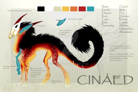 Cinaed Reference Sheet by Ryukurei