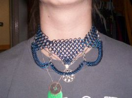 Black and Blue Choker2 by gnomeofmaille