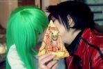 Lelouch and C.C cosplay by LadyOfBarians