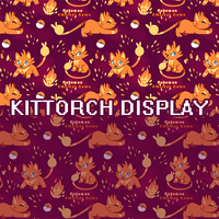 PKMN Ethereal Gates: Kittorch Tile by CloverCoin