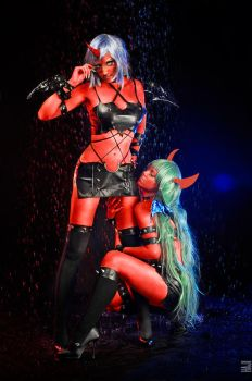 Scanty and Kneesocks by shproton
