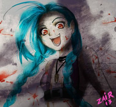 Jinx sketch by Rolly-Chan