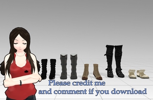 Shoes pack [MMD] [DL] by Deiroko