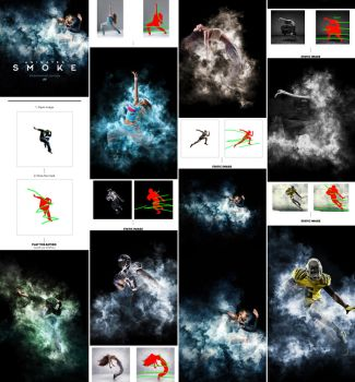 Gif Animated Smoke Photoshop Action by GraphicAssets