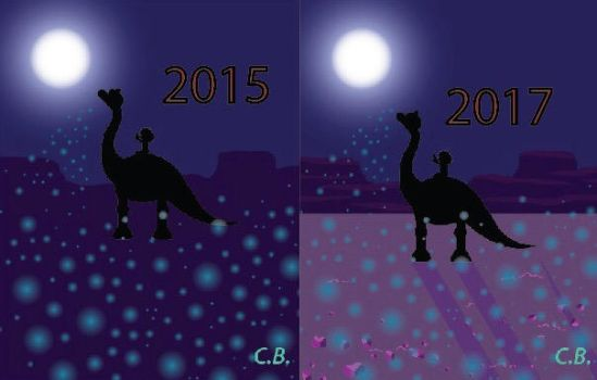 Before and After The Good Dinosaur by cjbolan