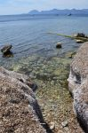 seascape from wall of dead seaweeds. by A1Z2E3R
