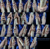 Hand Pose Stock - Wielding Staff - Loose Grasp by Melyssah6-Stock