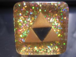 Tri-Force Resin Charm by Darklunax110