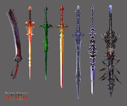 Anima: new swords set 1 by Wen-M