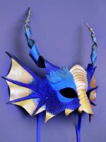 Blue Dragon Mask by OakMyth