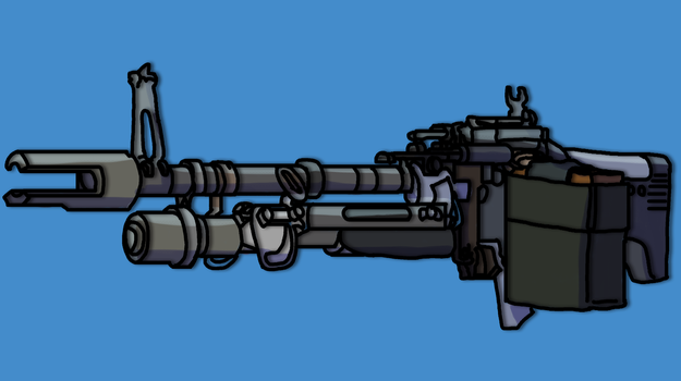 M60 Black ops 2 by Hrdcoreartist