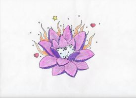 Old School Lotus Flower 1 by CrYpToZ