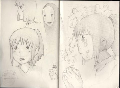spirited away sketches by Saruuh