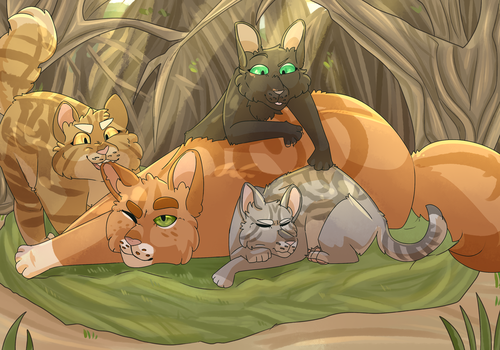 Squirrelflight is a good mom(speedpaint) by Tabidot