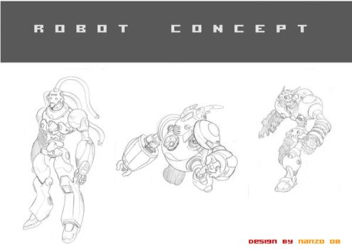 Robot design by MANTERAWORKS
