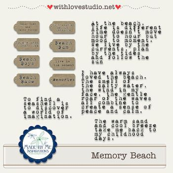 Memory Beach Word Art kit by ravynfaire