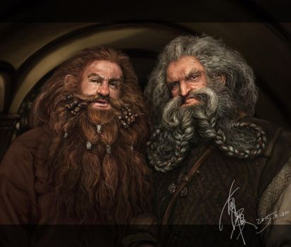 2015-8-20 Hobbits OinGloin by yuilovepainting